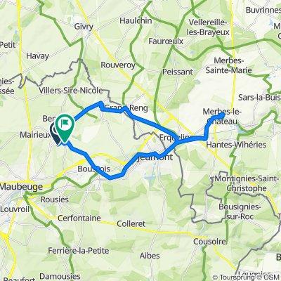 De Rue de la Chapelle 29, Élesmes à Rue du Pont de Pierre 122, Maubeuge