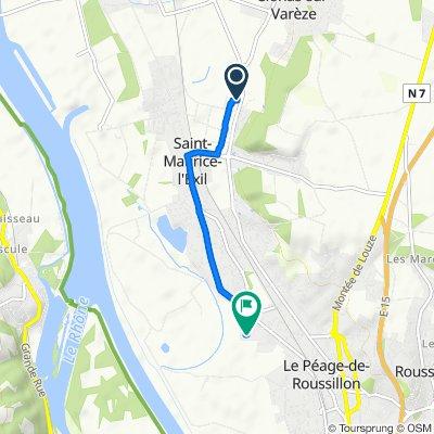 De 18 Rue Newton, Saint-Maurice-l'Exil à 58 Rue Florence Arthaud, Saint-Maurice-l'Exil