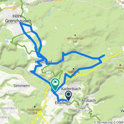 Eitelborn - Hillscheid - Höhr - Grenzhausen und zurück