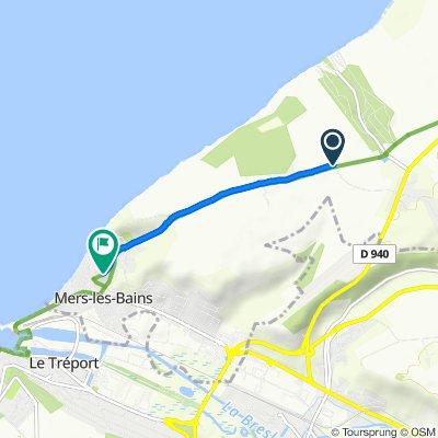 De Route de Mers, Saint-Quentin-la-Motte-Croix-au-Bailly à 2–32 Rue du Docteur Roux, Mers-les-Bains