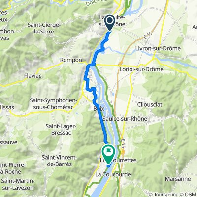 De Chemin de Pren Te Garde 37, La Voulte-sur-Rhône à Chemin du Camping, Cruas