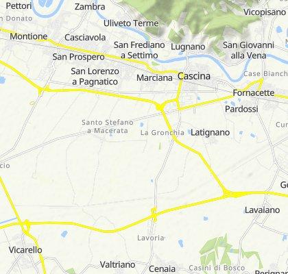 Da Via Lavoria 236, Crespina Lorenzana a Via Archimede Bartoli 45A, Cascina