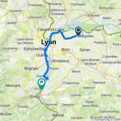 De Impasse du Mollard 8, Décines-Charpieu à Allée Chantemerle 21, Ternay