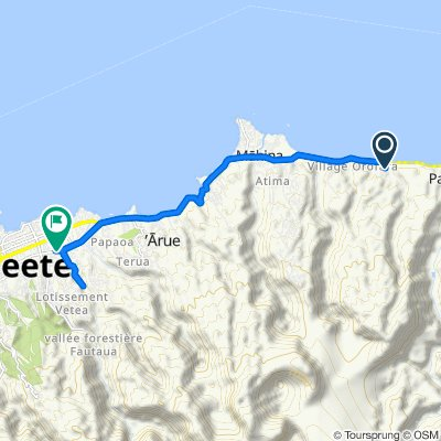 De Unnamed Road, Hitiaa O Te Ra à Avenue Ariipaea Pomare 406, Pirae