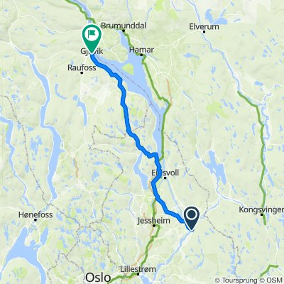 Bruvegen, Årnes to Strandgata 17–17A, Gjøvik