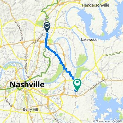 902 Saunders Ave, Nashville to 919 Allen Rd, Nashville