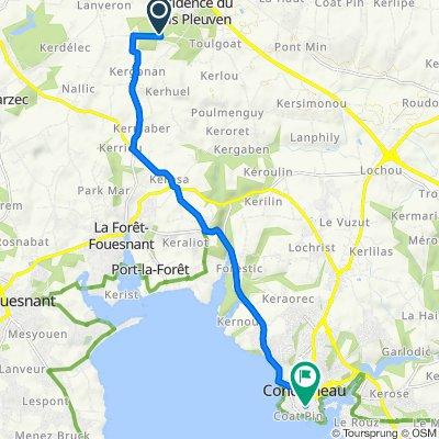 Itinéraire vers 2 Rue Amiral Courbet, Concarneau