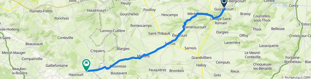 Route from Rue du Marais 5767, Guizancourt