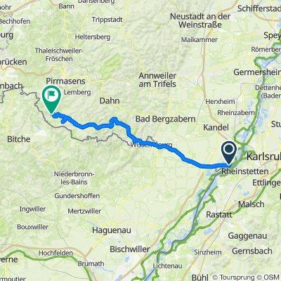 RLP1: Neuburg a. Rhein - Eppenbrunn 71,3km 396hm