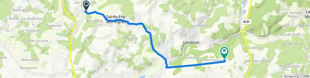 D4E3, Ginestet to Chemin de Grand Jean 12, Creysse