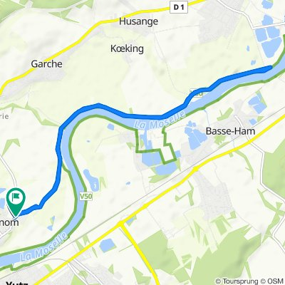 Itinéraire à partir de Route de Garche, Manom