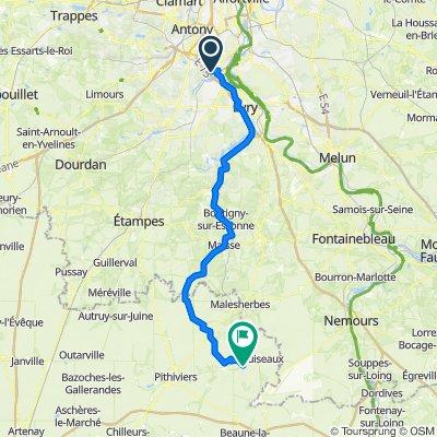De 5 Rue des Platanes, Savigny-sur-Orge à 4 Route d'Ondreville, Grangermont
