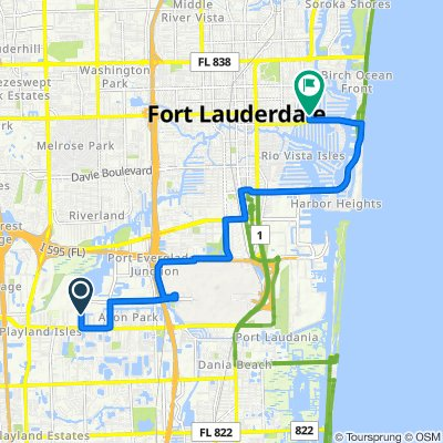 4464 SW 34th Terr, Dania Beach to 40 Isle of Venice Dr, Fort Lauderdale
