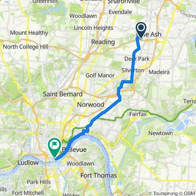 9320 Hunters Creek Dr, Blue Ash to 140 Marian Spencer Way, Cincinnati