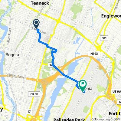 314–324 Cedar Ln, Teaneck to 258 Broad Ave, Leonia