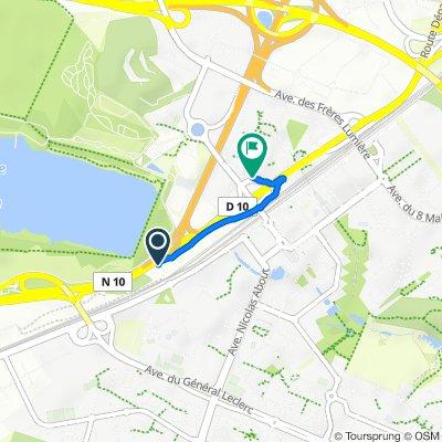 De N10, Montigny-le-Bretonneux à 12 Avenue Paul Delouvrier, Montigny-le-Bretonneux