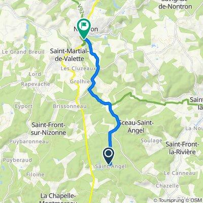 66 Saint-Angel, Sceau-Saint-Angel to Place des Marronniers, Nontron