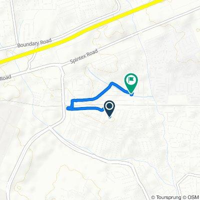 Route from Via Della Spiga, Accra