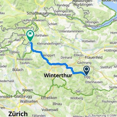Stutzstrasse 3, Elgg nach Buckstrass, Ellikon am Rhein