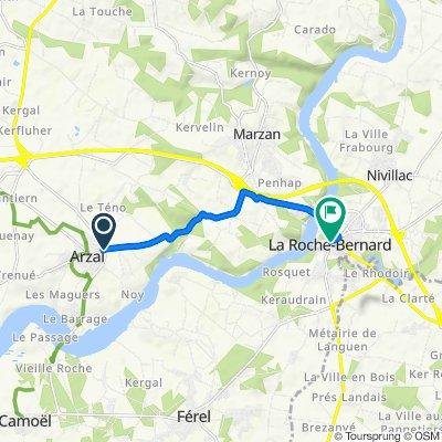 De D139, Arzal à 8 Rue Crespel de la Touche, La Roche-Bernard