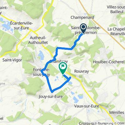 Itinéraire à partir de 9 Rue de Chambray, Sainte-Colombe-près-Vernon