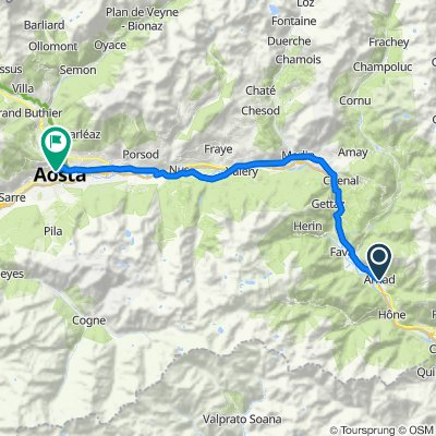 Frazione Clos 2, Arnad nach Viale Ginevra 2, Aosta