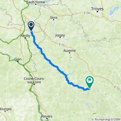 De 4 La Colline, La Selle-sur-le-Bied à Route de Quarré, Marigny-l'Eglise