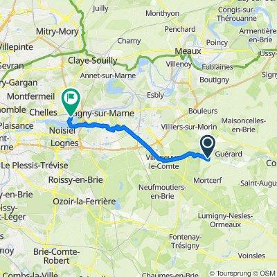 De 2 Rue Jacob, Dammartin-sur-Tigeaux à Allée des Tilleuls, Vaires-sur-Marne