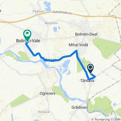 Route to Strada Republicii 5, Bolintin-Vale