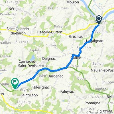 2–8 Route de Guillac, Branne nach Route de Blésignac, La Sauve