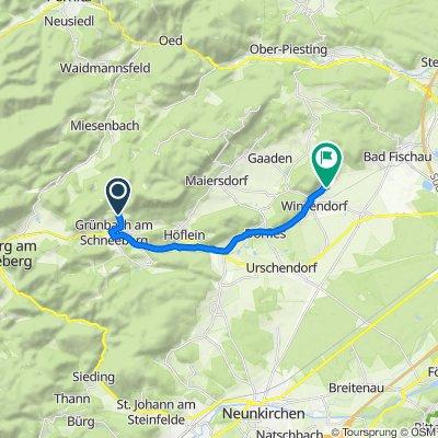 Route von Wandstraße 23c, Grünbach am Schneeberg