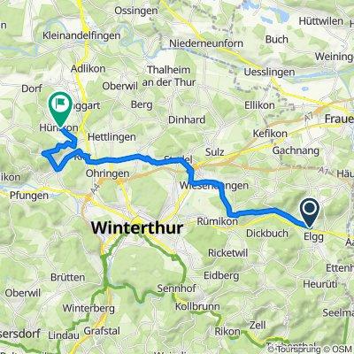 Stutzstrasse 3–5, Elgg nach Hinterdorfstrasse 1, Aesch bei Neftenbach
