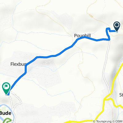 Route to Erdiston Court, Summerleaze Crescent, Bude