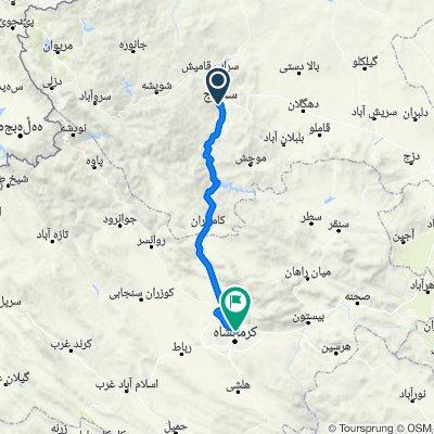 sanandaj be Kermanshah