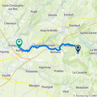 Restful route in Souvigné