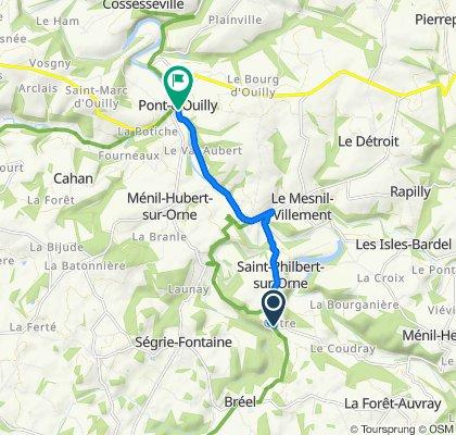 De D301, Saint-Philbert-sur-Orne à Boulevard de la Noë, Pont-d'Ouilly