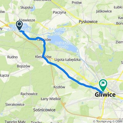 Wodna 2B, Pławniowice do Jasnogórska 14, Gliwice