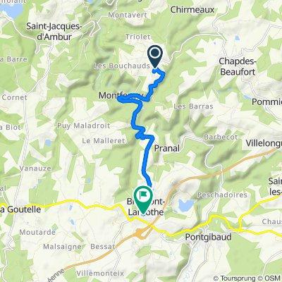 De D418, Chapdes-Beaufort à 7 Rue Saint-Martin, Bromont-Lamothe
