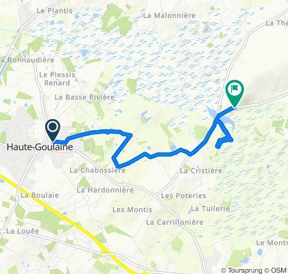 De 6bis Rue des Écoles, Haute-Goulaine à 376–542 Pont de Louen, Le Loroux-Bottereau