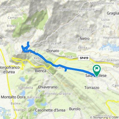 Da Via Umberto I° 132, Sala Biellese a Via Umberto I° 132, Sala Biellese