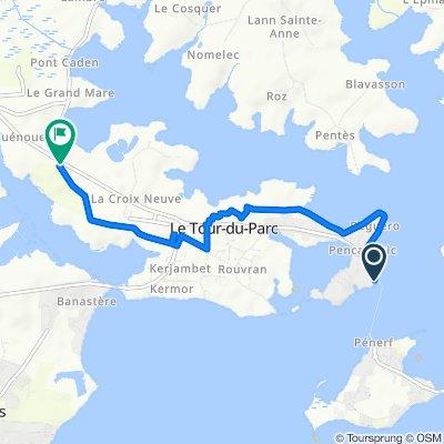 De Rue de la Cale 40, Le Tour-du-Parc à Route de Belle Croix 37, Le Tour-du-Parc