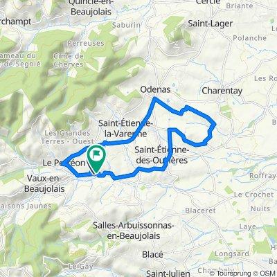 De 305 Chem du Vallon, Le Perréon à 3 Impasse du Château, Le Perréon