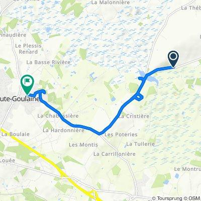 De 77 Le Boireau, Le Loroux-Bottereau à 10 Rue des Écoles, Haute-Goulaine