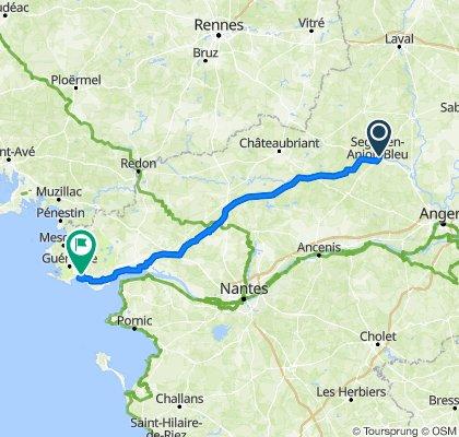 Day 4 - Ségré en Anjou - La Baule