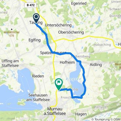 Benediktweg 1, Eglfing nach Poschinger Allee, Murnau am Staffelsee