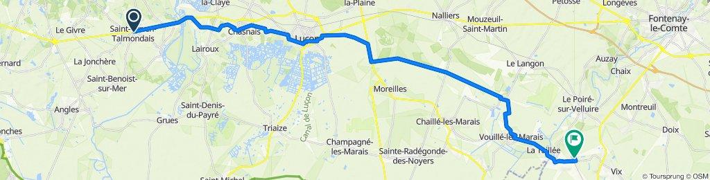st Cyr-en-Talmondais a La Sebrandière, Le Gué-de-Velluire