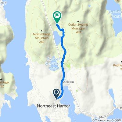 Route from 26 Harborside Rd, Mount Desert