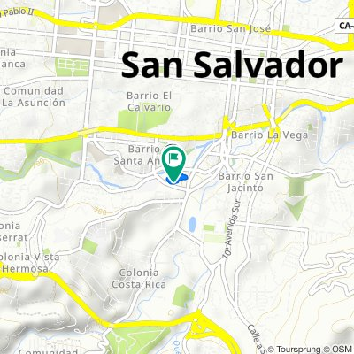 De Calle Prado, San Salvador a Calle Prado, San Salvador