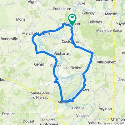 boucle 45 km Villognon
