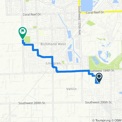 13006 SW 190th St, Miami to 16413–16671 SW 157th Ave, Miami